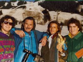 Portrait de Pierre Boullet et ses fils Raphael, Stan et Chris